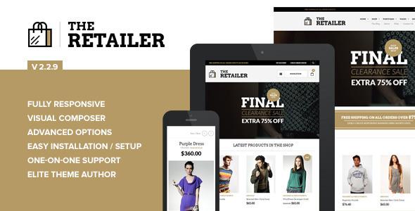retailer wordpress template