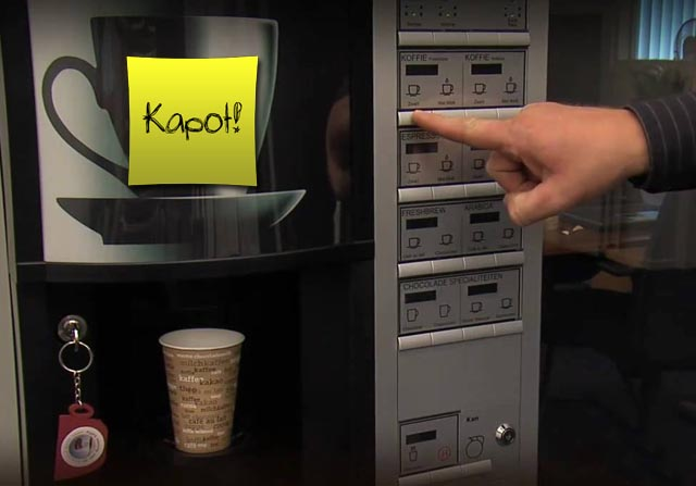 koffie kapot