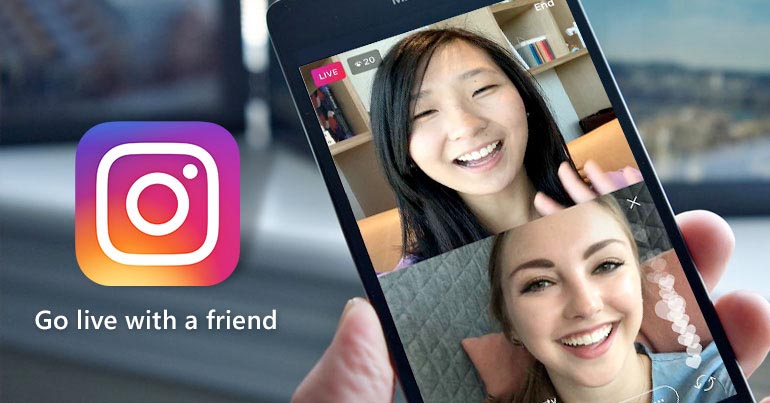 go live with friends instagram