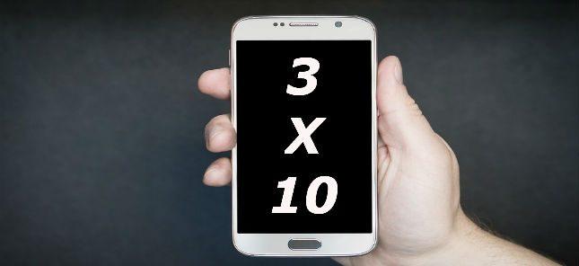 3x10 regel social media
