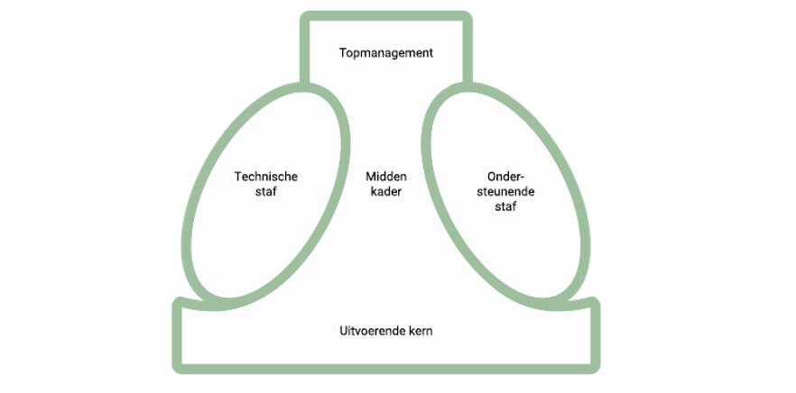 Figuur 1: Basisonderdelen organisatiestructuur